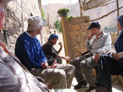 stopping for mint tea in Village in high atlas