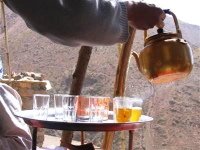 mint tea pot traditional drink Morocco