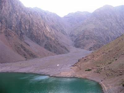 Lac d'ifni in Toubkal mountains in Morocco