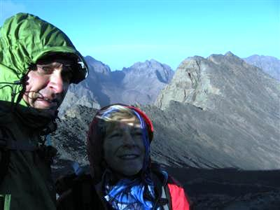 ascent of Jbel Toubkal highest mountain in north Africa