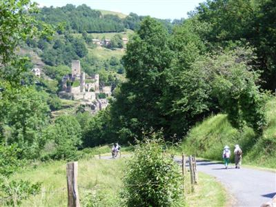 Walkers on self guided walking holiday in Tarn Aveyron guided walking south France Europe