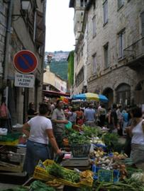 market tarn midi pyrenees France guided walking holiday
