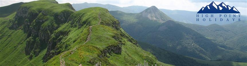 guided and independent walking in Cantal, Auvergne, France with High Point Holidays