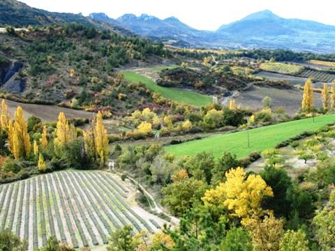 baronnies lanscape in provence south france walks