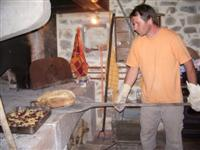 Making bread b&b independent walking holiday Beaujolais France