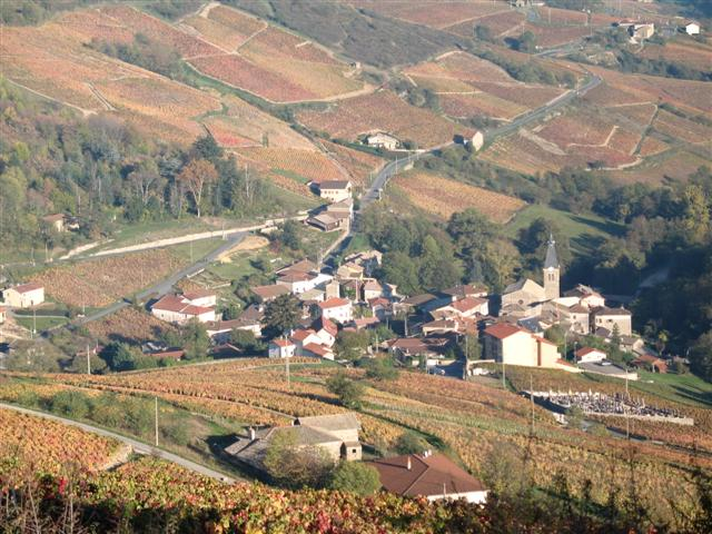 Marchampt Beaujolais Autumn guided walking France
