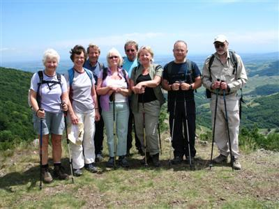 tailor made guided walking holiday for groups Beaujolais