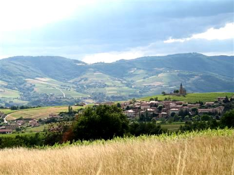 picture of St Laurent in Beajolais hills in France during self catering rental walking holiday
