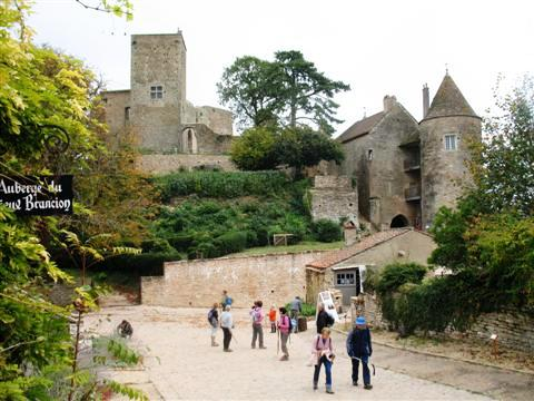 Brancion village castle burgundy walking tour holiday