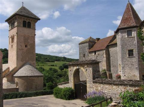 Blanot village near cluny Burgundy France walking