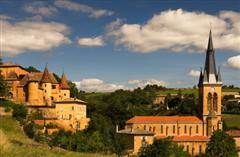 jarnioux village and chateau golden stones region french walks