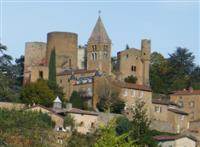 chatillon castle in Azergues valley self guided walking holiday in Europe