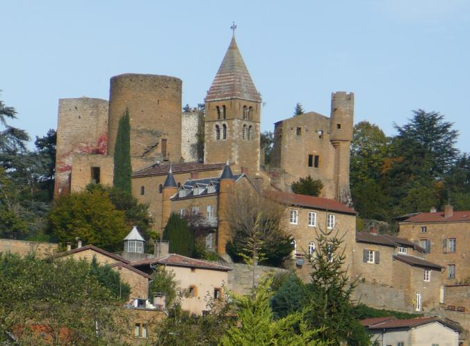 Region golden stones Chatillon d'Azergues Beaujolais France independent walking holiday