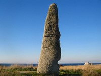 standing stone celtic coast french walking holiday