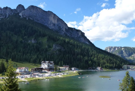 hotel by lake south tyrol dolomite hiking holiday