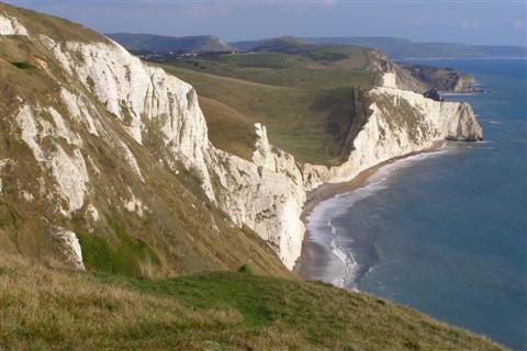 view from white nothe chalk cliffs dorset coastal path holiday