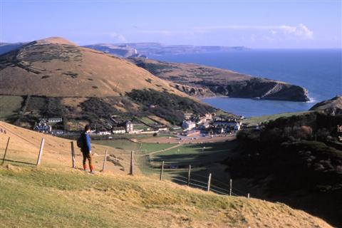 Lulworth cove and dorset hills self guided walking holiday UK