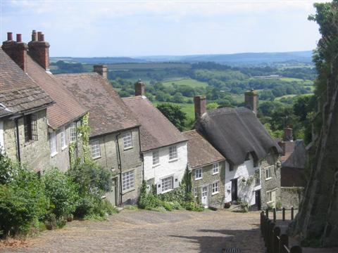 Gold Hill shaftesbury Dorset England independent walking holiday in UK FROM Salisbury