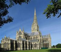 salisbury cathedral wiltshire south england walking