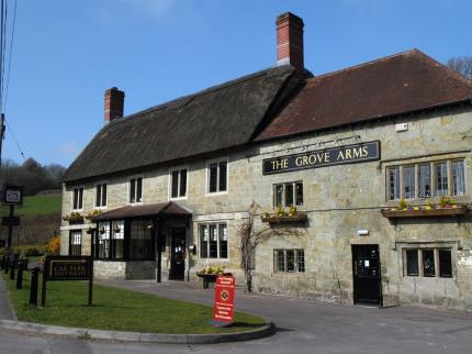 grove arms inn public house wiltshire walking England UK