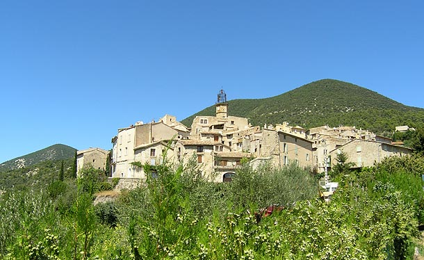 perched village drome french walking holidays
