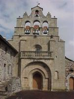 Independent walking holiday St Front roman church Haute Loire Auvergne France