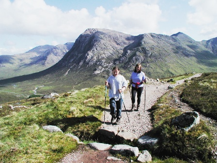 devils staircase west highland way scotland uk independent walking