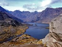 loch and cuillin mountains skye independent walking holiday scotland uk
