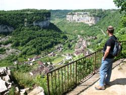 baume les messieurs in valley Jura in France guided walking holiday