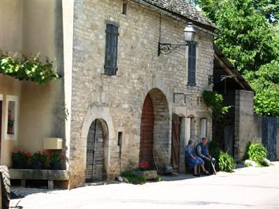 chateau chalon village jura guided walking holiday France