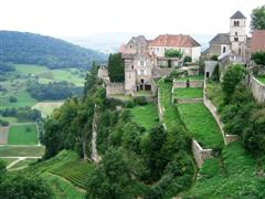 chateau chalon historic village jura wine trails france
