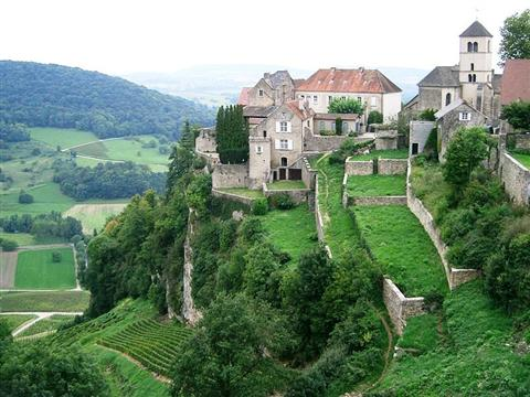 chateau chalon jura France guided walking holiday