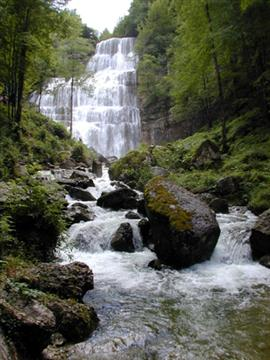Herrison waterfall Jura France guided walking holiday