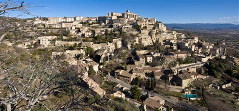 Gordes historic perched village in Luberon on guided walks France