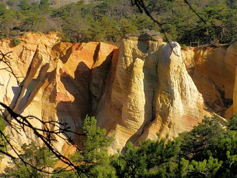 ochre quarry in Provence guided walking holiday in France