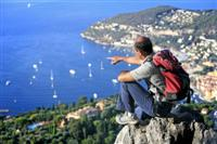 panoramic views of med on french south coast independent walking holiday