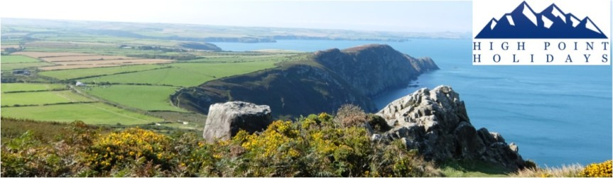High Point Holidays independent walking holiday in  pembrokeshire Wales UK