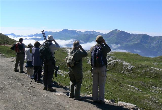 view of Cantabrian mountains Pico de Europa Spain guided walking holiday