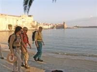 walkers on self guided holiday in mediterranean