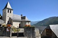 church village in French pyrenees