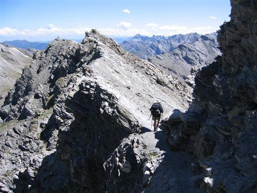 Alpine peak bagging on guided trekking holiday - summit of Foreant