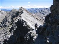 alpine peak bagging in France and Italy guided trekking holiday