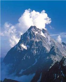 mountain mont viso in Alps in Italy on guided trekking holiday