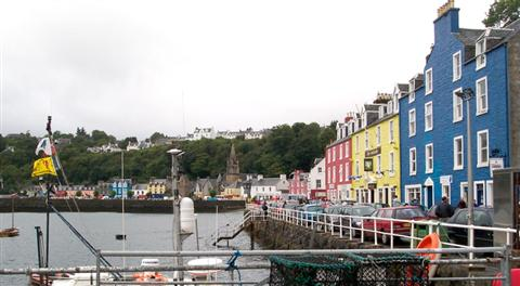 tobermory on island of Mull trossachs and islands independent walking Scotland