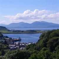 view to Mull from Oban independent walks scotland highlands and islands UK