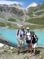 Above lac Blanc on guided walking holiday Vanoise Alps France