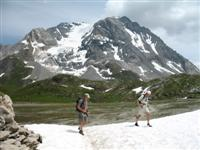 grande casse mountain walking in vanoise French Alps
