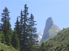 aguille de la vanoise in national park, France in self catering walking holiday