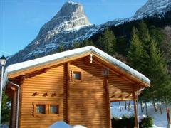 wooden chalet self catering rental in French alps for walking or skiing holiday