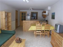 interior of LE doron self catering rental in Vanoise French Alps on independent walking holiday